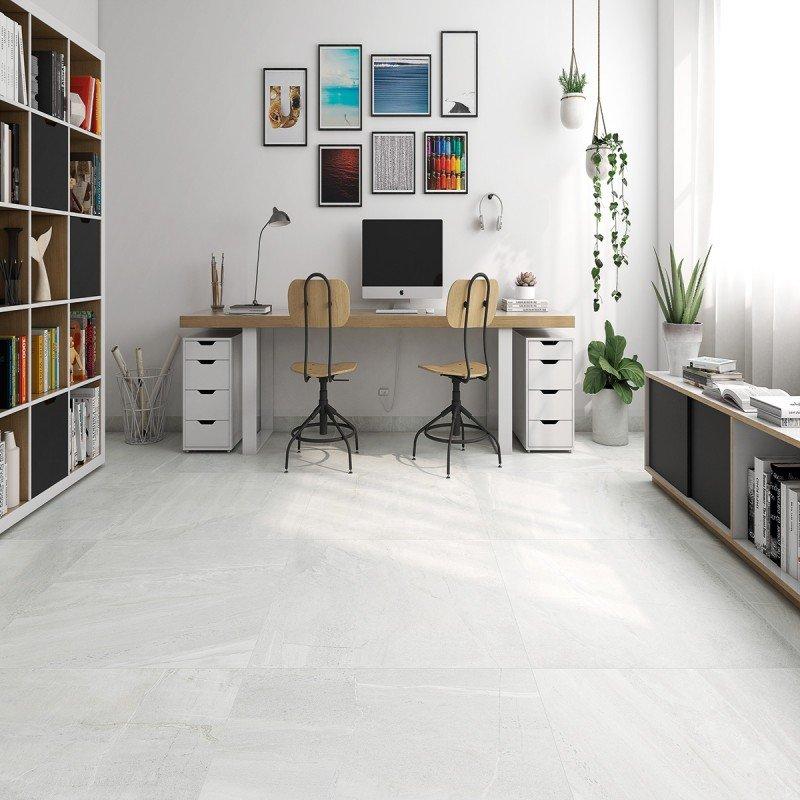 Pavimento porcelanico rectificado imitacion marmol cemento for Porcelanico imitacion marmol
